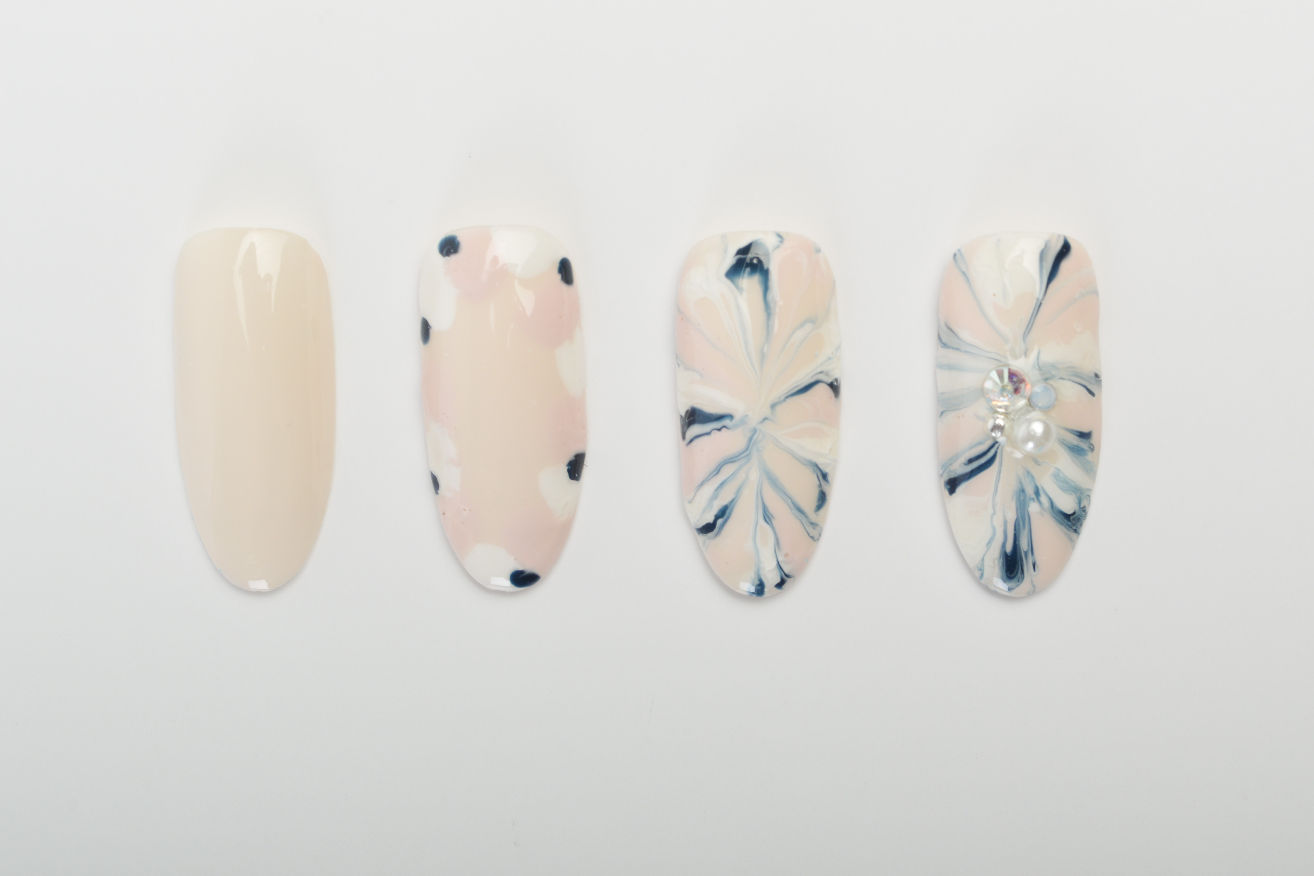 Embellished Marble Nail Art