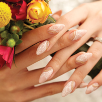 Behind the Scenes: Acrylic Lace Bridal Nails