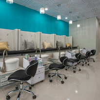 Luxuria offers specialized, health-focused pedicures to those clients who need it, using product...