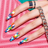 Behind the Scenes: Colorful Coffin Nails