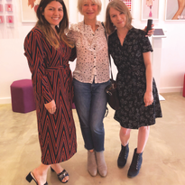 Senior editor Katherine Fleming (far right) and I came under the influence of Dame Helen Mirren...