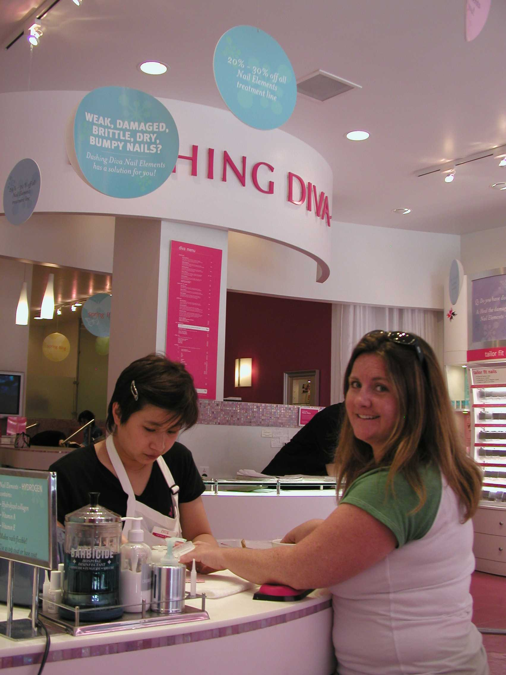 <p>At the Dashing Diva location in New York City.</p>
