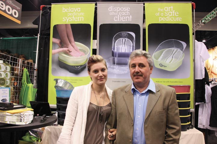 <p>Olga and Vladimir Zolotnik had the perfect product for tired feet with their Belava Heater/Massager unit that can be used with or without the Belava Foot Spa.</p>