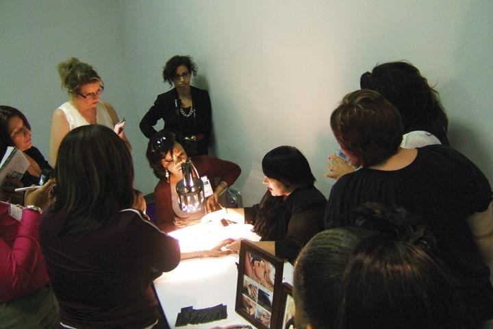 <p>Celebrity manicurist Naja Green taught a class called &ldquo;Thinking Outside the Bottle,&rdquo; which covered Minx pointers, what nail colors look best on camera and on celebrities, and how to be more creative with nail art.</p>