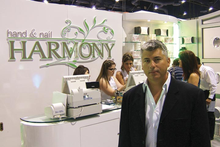 <p>CEO of Hand and Nail Harmony Danny Haile was excited to demo his new Gelish, which is a polish-like gel.</p>