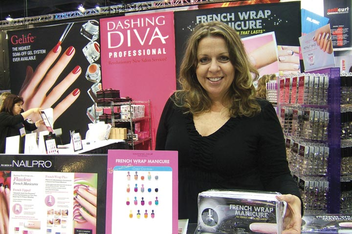 <p>Dashing Diva educator Pattie Yankee Williams showed off the new assortment of colors offered in the French Wrap Manicure kits.</p>