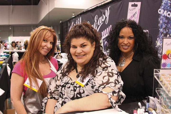 <p>It&rsquo;s So Easy&rsquo;s Angie McGhee, Rita Padilla, and Tina Otero promoted the company&rsquo;s new Cracked Ice nail art embellishments.</p>