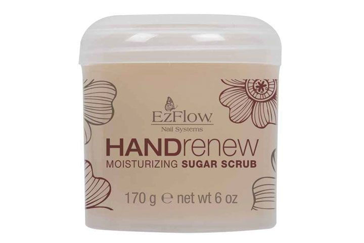 """<p><a href=""""http://www.ezflow.com/"""">EzFlow&rsquo;s</a> Hand Renew Sugar Scrub is a perfect add-on to any manicure service. A natural sugar scrub infused with sunflower oil, vitamins A, D, and E, the Hand Renew Scrub exfoliates and seals in moisture, leaving hands feeling soft and restored. It also has a refreshing fragrance blend of pink grapefruit, lime, and orange blossom to awaken the senses.</p>"""