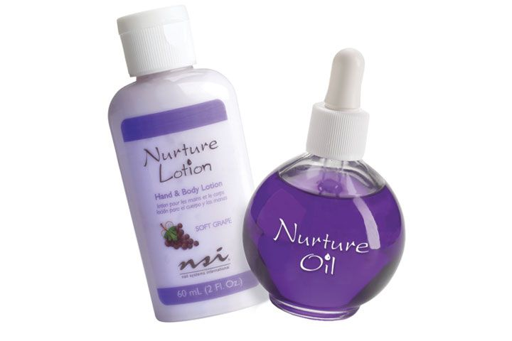 """<p><a href=""""http://www.nsinails.com/"""">NSI </a>Nurture Lotions and Oil are the perfect products for quenching your clients&rsquo; thirsty skin. Nurture Lotions are infused with jojoba oil and grapeseed oil, which help provide long-lasting, luxuriously soft skin. The lotions are available in six different scents. Nurture Oil helps to prolong enhancements&rsquo; durability and flexibility. NSI Nurture Oil is also a great retail item for clients.</p>"""