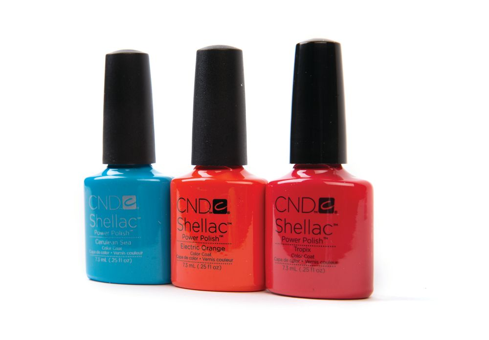 """<p><a href=""""http://cnd.com/"""">CND </a>offers bright shades in both Vinylux and Shellac for longer-lasting wear. Colors include Cerulean Sea, Electric Orange, and Tropix. &nbsp;&nbsp;&nbsp;</p>"""