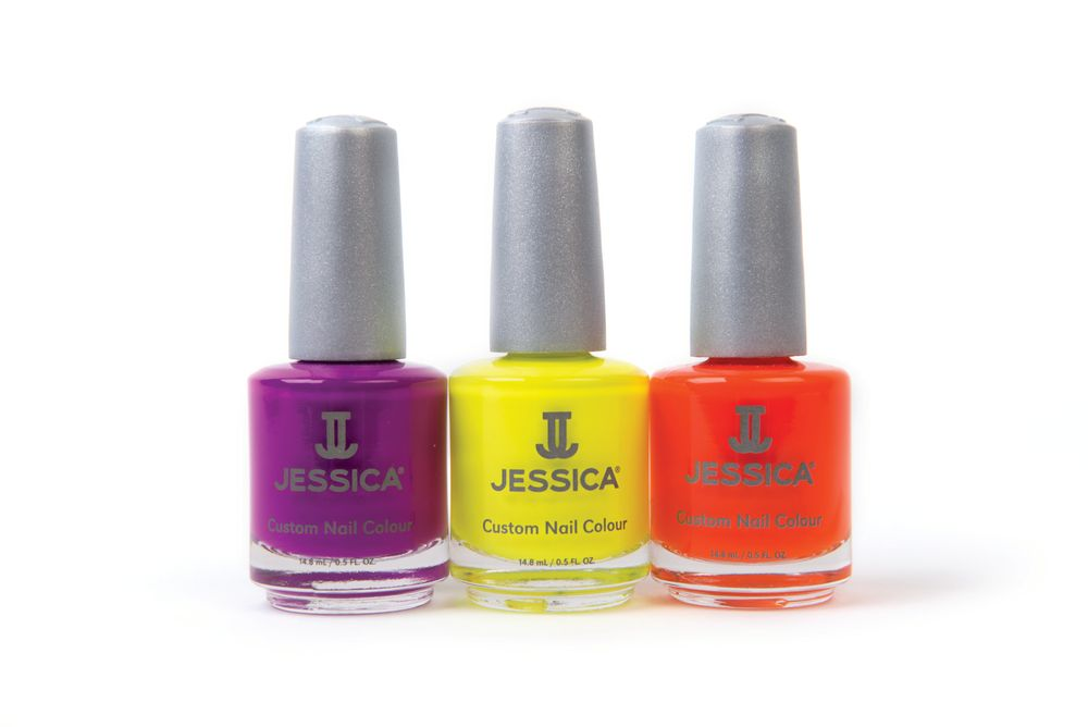 """<p>The Ignite collection from <a href=""""http://www.jessicacosmetics.com/"""">Jessica </a>brings out the spirit of color. Choose from intense shades like Purple Burst, Yellow Flame, and Orange Zest.<br /><br /></p>"""
