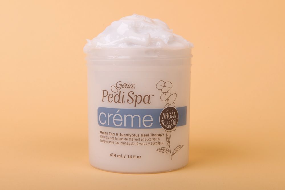 """<p><a href=""""http://www.genaspaproducts.com/"""">Gena</a>&rsquo;s Pedi Spa Cr&egrave;me is perfect for dry, cracked heels. This cream conditions skin thanks to added green tea and eucalyptus, and it&rsquo;s infused with argan, jojoba, &shy;olive, and sunflower seed oils. Plus, this antioxidant and vitamin-rich cream will nourish and saturate skin with much needed nutrients.</p>"""