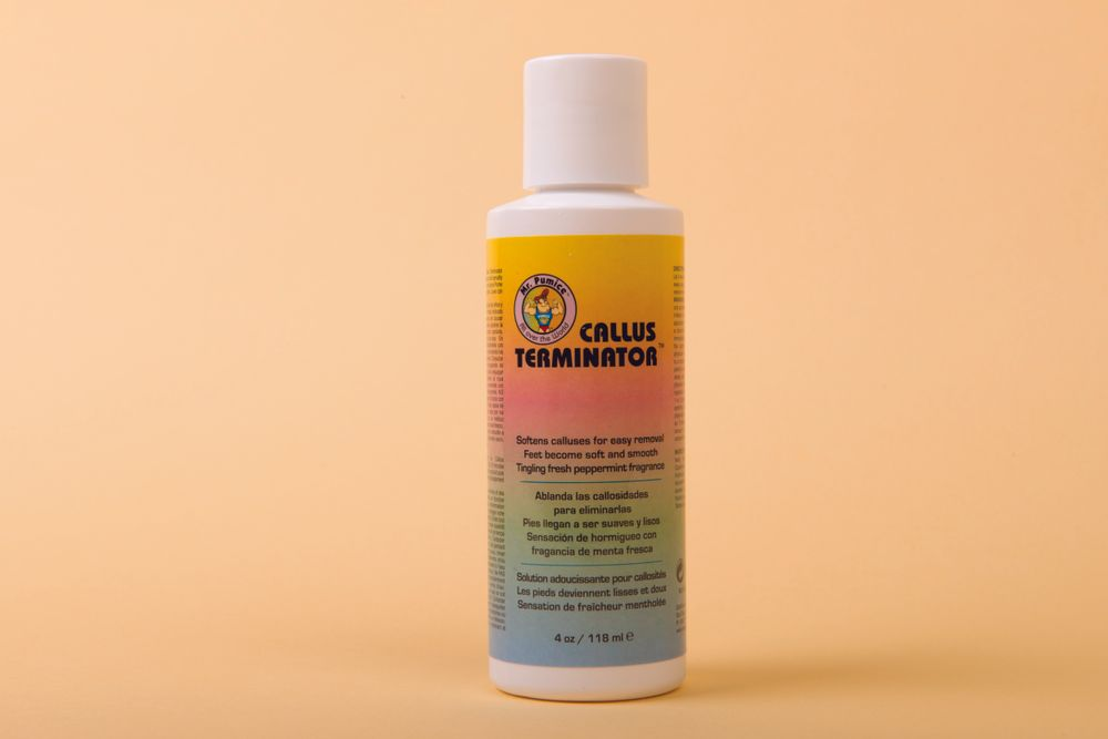 """<p>The Callus Terminator from <a href=""""http://robanda.com/"""" target=""""_blank"""">Robanda</a> is a professional formula that removes calluses quickly and effectively for soft and smooth feet. &shy;Robanda &shy;recommends pairing the Callus Terminator with Mr. Pumice bars for best results.</p>"""