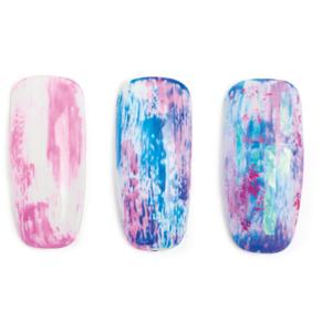 Nail Art Studio: Pink, White, and Blue Mylar