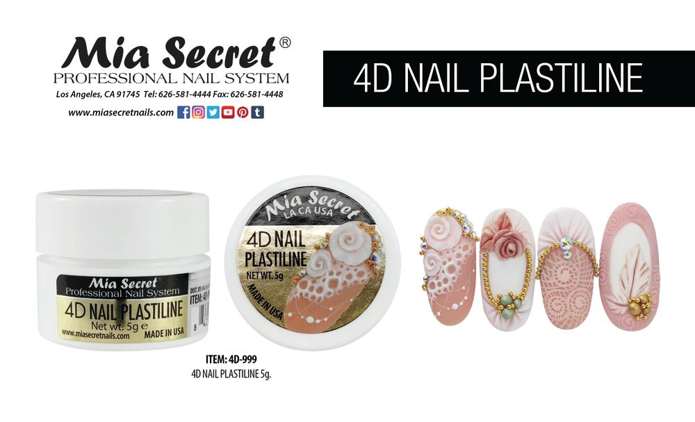 <p>Mia Secret<br />Glass gel, embellishments, 3-D art gel, stamping plates<br />www.miasecretnails.com</p>