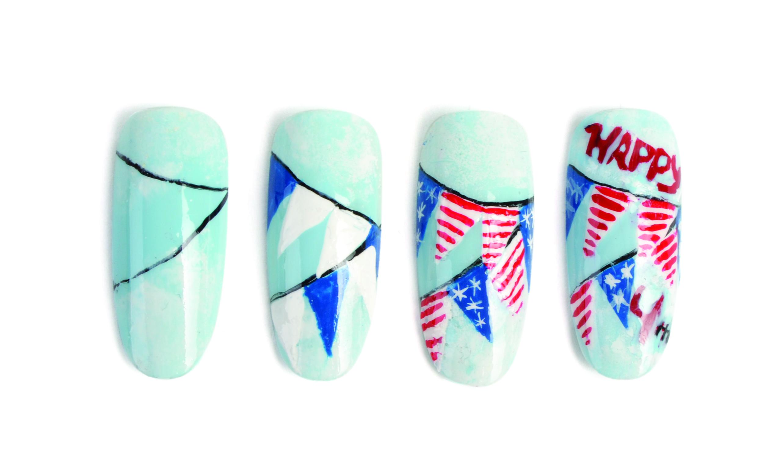 Nail Art Studio: Flags A-Flyin'