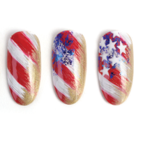 Nail Art Studio: Perfectly Imperfect American Flag