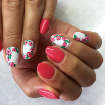 How to Create Easy Red Rose Nail Art