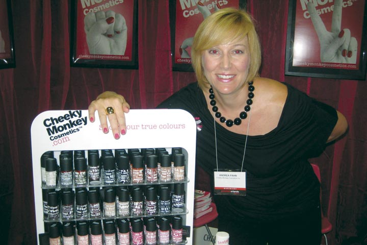 <p>Every polish color in the edgy new Cheeky Monkey Cosmetics line features its own backstory and signature drink, explains founder and president Andrea Pahn.</p>