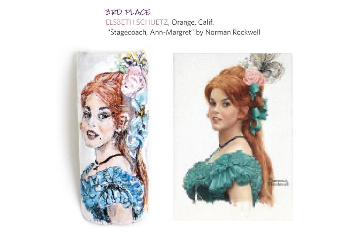 <p>3rd place:</p> <p>Elsbeth Schuetz, Orange, Calif.</p> <p>&nbsp;&ldquo;Stagecoach, Ann-Margret&rdquo; by Norman Rockwell</p>