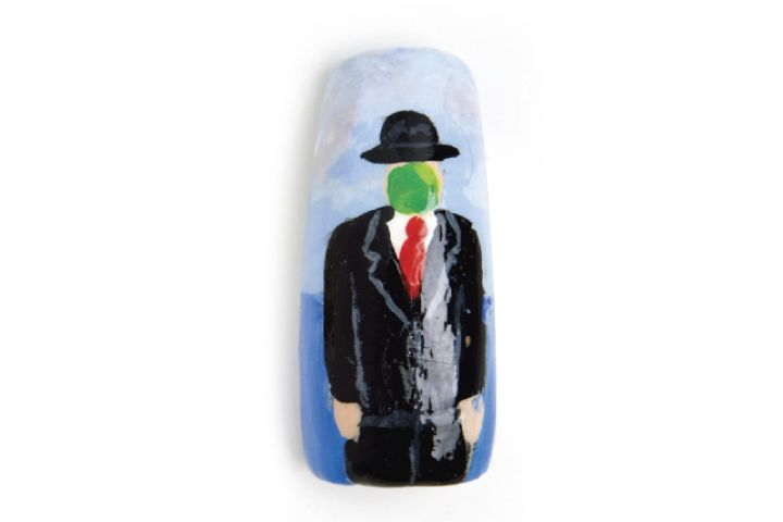 "<p><span style=""line-height: 120%; font-family: 'Arial','sans-serif'; color: windowtext; font-size: 10pt;"">Jana Burns, Pensacola, Fla. <br />&ldquo;The Son of Man&rdquo; by Rene Magritte</span></p>"
