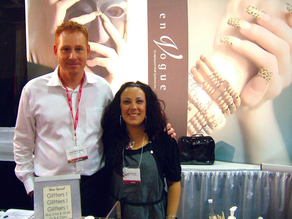 <p>EnVogue&rsquo;s Courtney Trapp and Joanne Millar offered great glitter and gel specials at the show.</p>