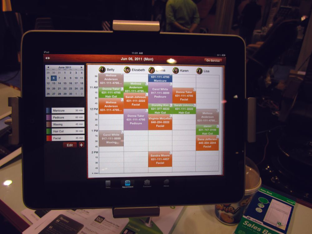<p>J&amp;A introduced SalonPOS, a new touchscreen salon management program that can be used on iPads and iPhones too.</p>
