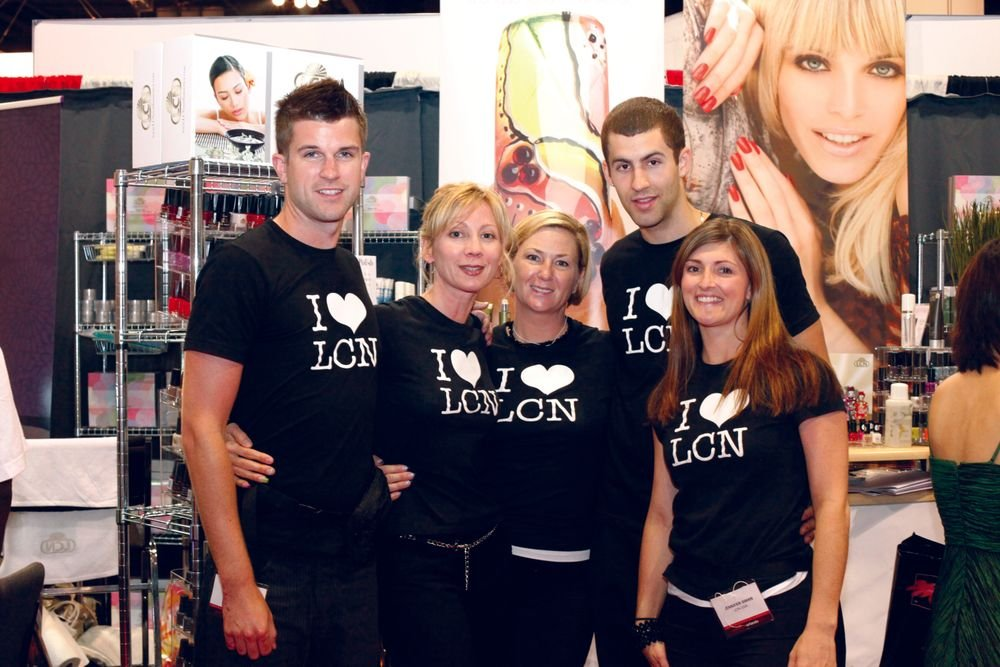 <p>LCN&rsquo;s Kurt Malec, Jennifer Swan, Matt Dione, Tina Gilbert, and Rebecca Clare sported &ldquo;I Heart LCN&rdquo; T-shirts while being stalked for their fun Magnetic Polish.</p>
