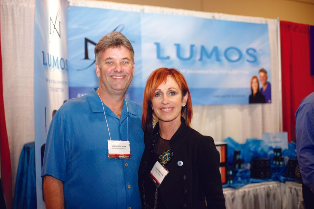 <p>Jim and Linda Nordstrom of Famous Names LLC, are excited about all of the positive response they&rsquo;ve heard from customers about their Lumos Top and Base Coats.</p>