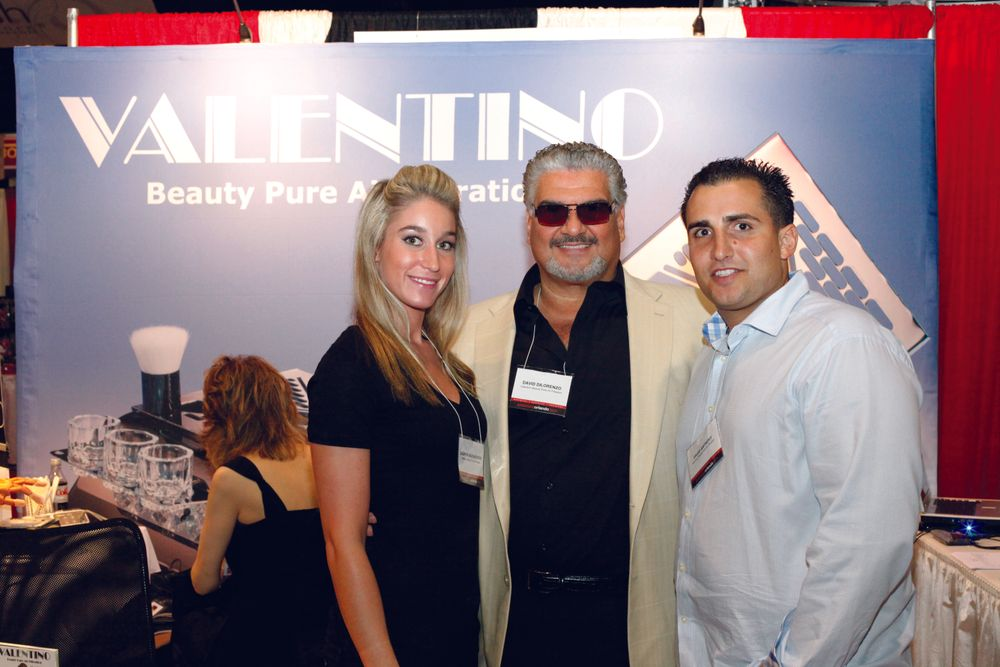 <p>Making their beauty show debut, Valentino&rsquo;s Lauren Valentino, David Dilorenzo, and David Anthony promoted their new Valentino Beauty Pure Air Filtration system.</p>