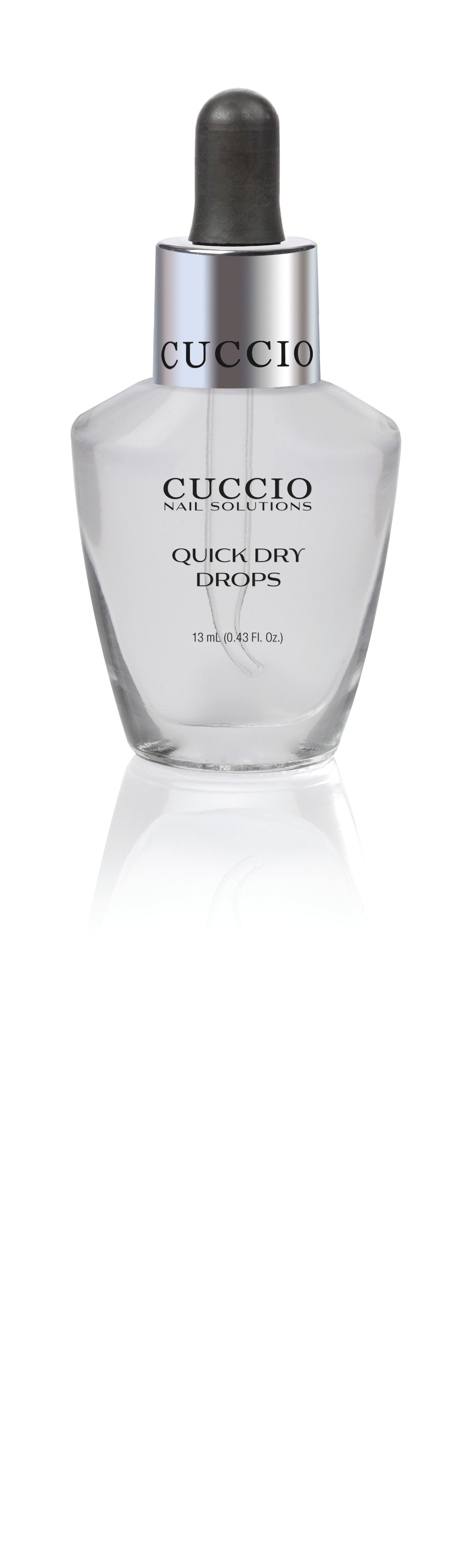 """<p>Speed up the drying process by applying Quick Dry Drops by <a href=""""http://www.cuccio.com"""">Cuccio</a> as the final step before sending clients home. The drops help dry layers of polish quickly while providing moisture and protection. After the final coat of polish, use one drop per nail.</p>"""