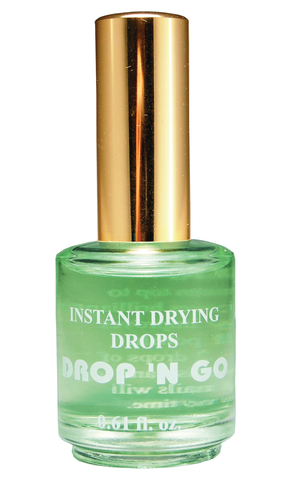 """<p><a href=""""http://www.duri.com/"""">Duri</a>&rsquo;s Drop &lsquo;N Go is a formula that dries the nail enamel from top to bottom in seconds, delivering faster results as well as a brilliant gloss. One or two spritzes of Drop &lsquo;N Go to the nail after the base, polish, and top coats have been applied will leave manicures intact for days.</p>"""