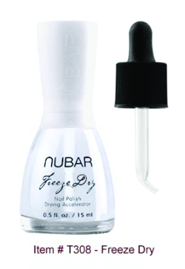 """<p>Dry polish to the touch in just 50 seconds with <a href=""""http://www.bynubar.com/store/index.php?p=home"""">Nubar</a>&rsquo;s Freeze Dry Drops. The formula prevents chips and overlay lifts, and doesn&rsquo;t leave an oily residue on the nail bed. Like all Nubar products, Freeze Dry is three-free.</p>"""