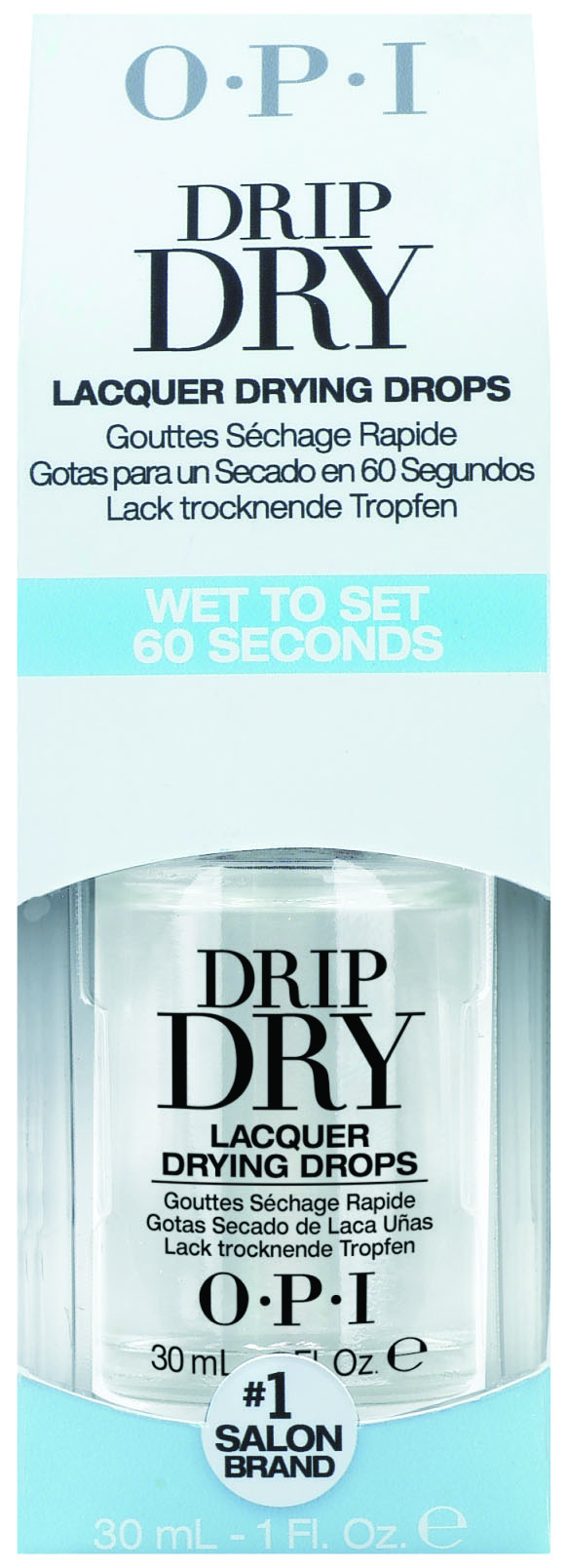 """<p>With a couple of drops, <a href=""""http://www.opi.com"""">OPI</a>&rsquo;s Drip Dry dries nails to the touch in one minute and completely in five. Made with jojoba and vitamin E, the product also treats cuticles to a soothing dose of vitamins and antioxidants. To use, wait 60 seconds after applying nail lacquer and top coat.</p>"""