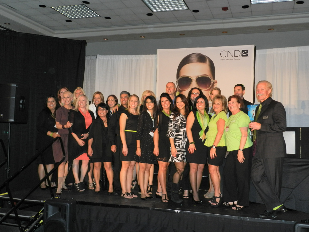 <p>The CND team celebrated the official launch of Vinylux Weekly Polish at a Power Party on Sunday evening.</p>