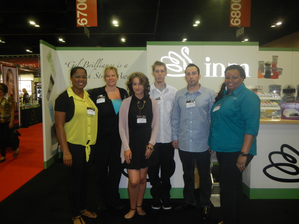 <p>INM&rsquo;s Kandis Jacob, Juli Miller, Jessica Ayala, Chris Hofer, Garrett Kellenberger, and Sharon George were on-hand to demo Gelavish and a multitude of other products.</p>
