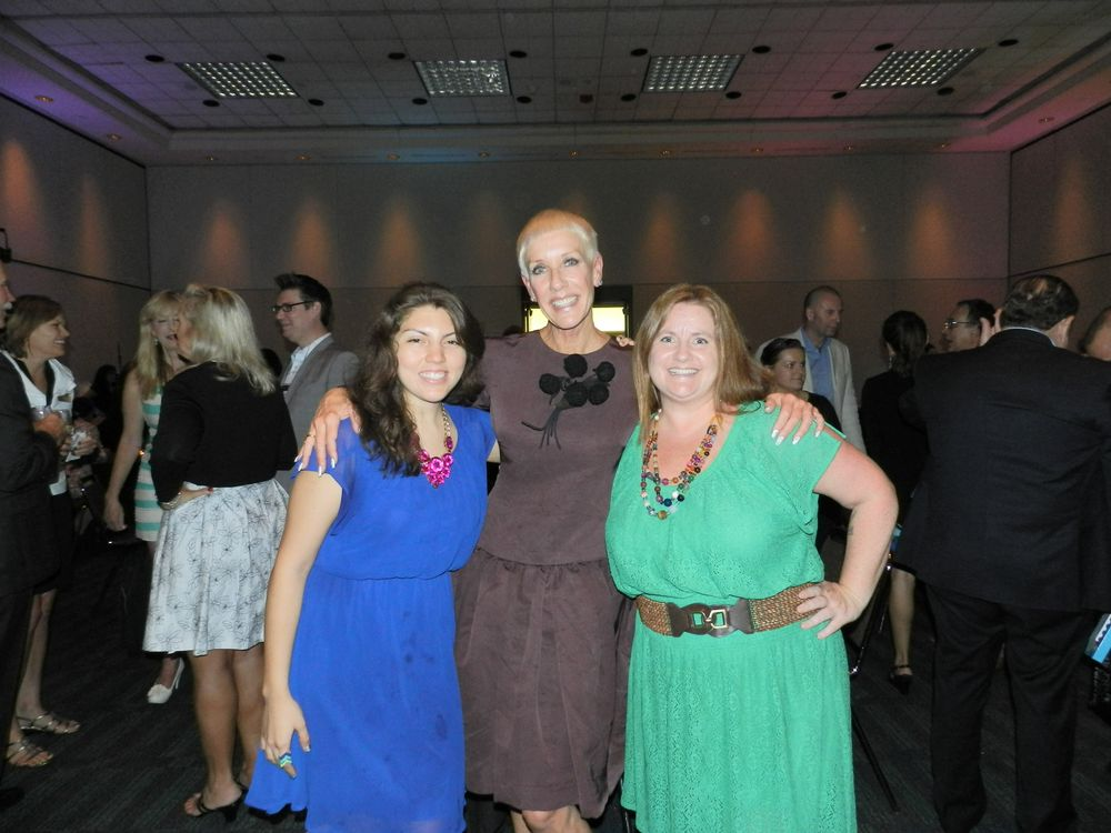 <p>CND founder and artistic director Jan Arnold entertained guests at the Vinylux VIP Power Party, including NAILS senior editor Beth Livesay and editor Hannah Lee, with tales of fashion week and nail inspiration.</p>
