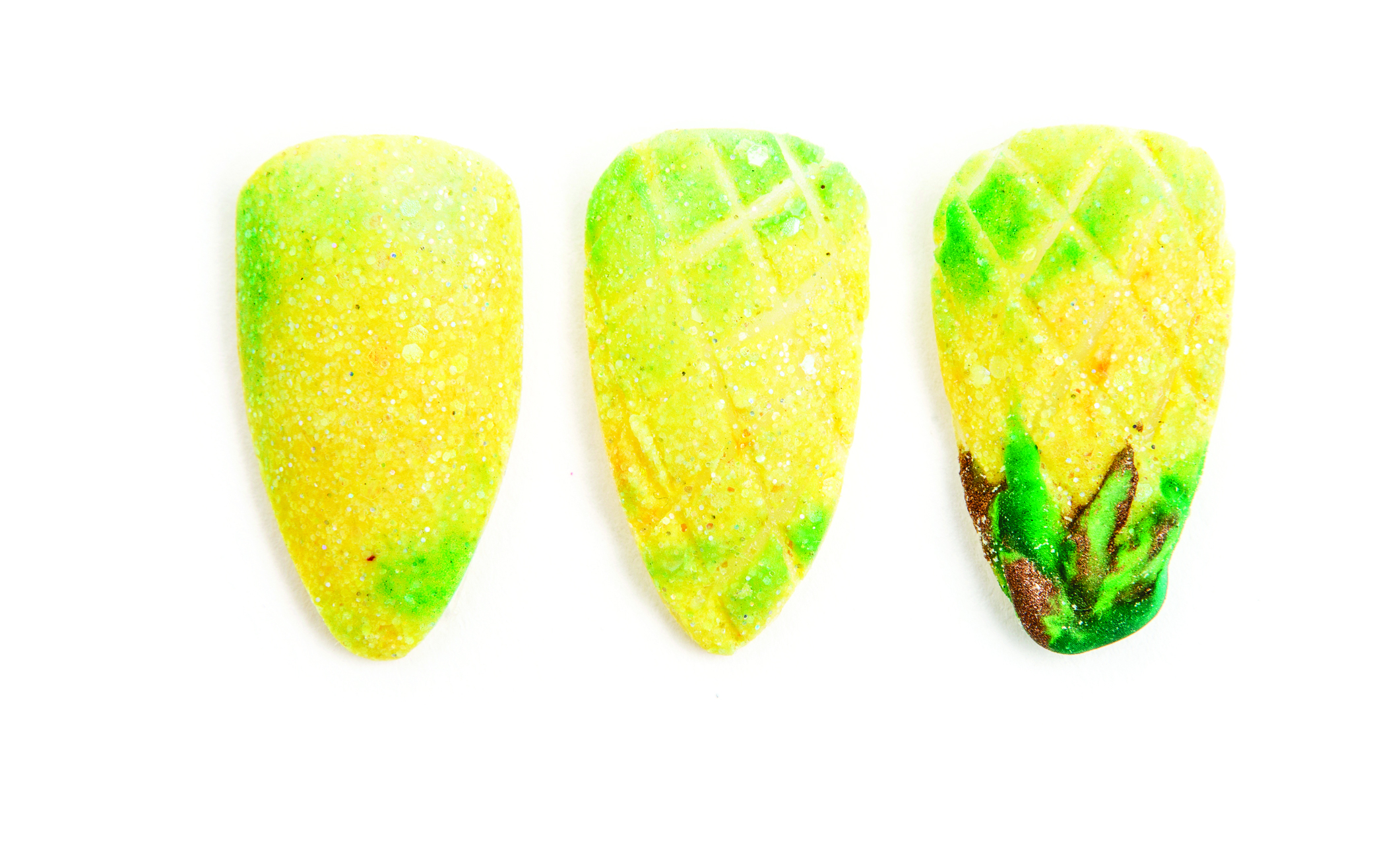 Nail Art Studio: Textured Pineapple