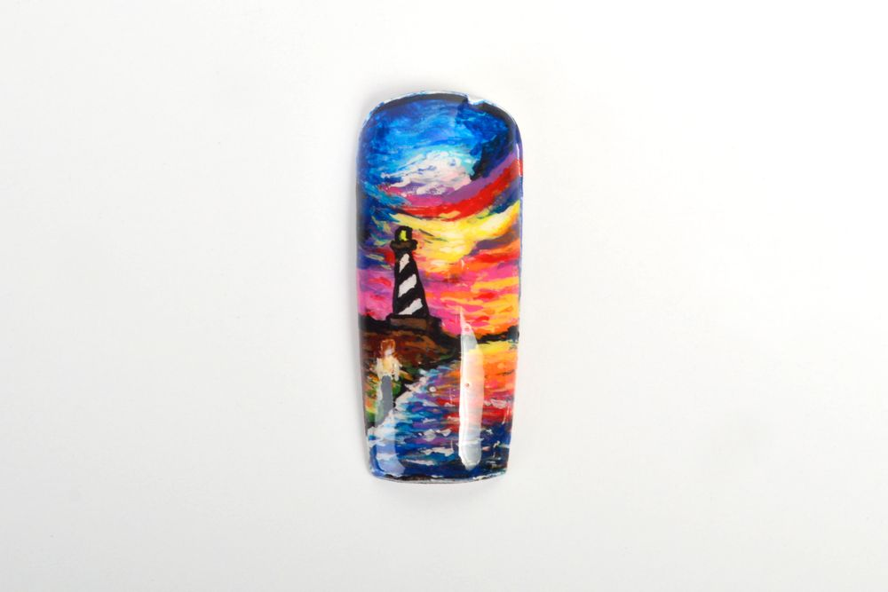 <p>Chastity Good, Charleston, W. Va.</p> <p>&ldquo;Lighthouse&rdquo; by Leonid Afremov</p>