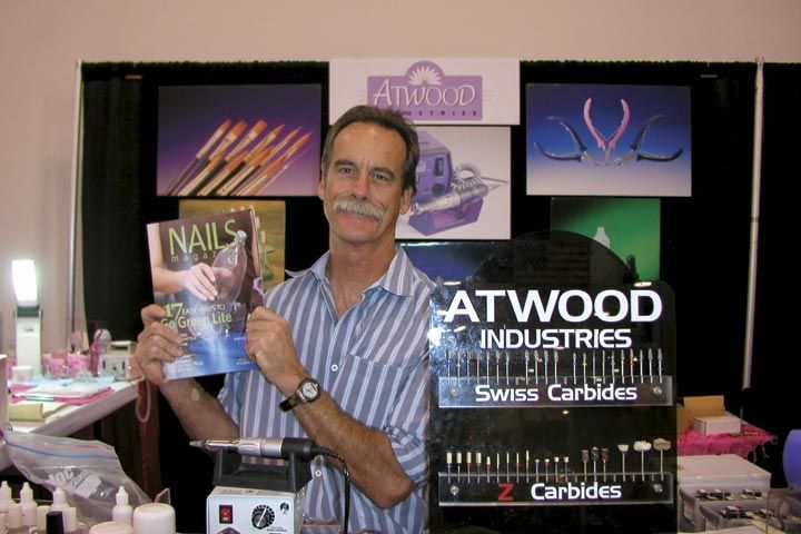 <p>Atwood Industries&rsquo; Bruce Atwood never goes anywhere without his NAILS Magazine.</p>