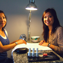 Owner Nancy Som (right) opened Dipped Nails in Redondo Beach, Calif., under the guidance of her...
