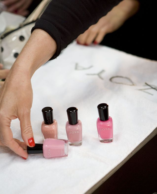<p>At Rosemount Australian Fashion Week, Toni Maticevski used an assortment of pink polishes from <strong>Zoya</strong>, including Jolene, Sweet, and Flora, plus peach polishes Zanna and Piper.</p>