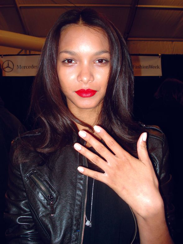 <p><strong>Orly</strong> Dreamboat created a classic look paired with a bold red lip for designer Milly. Dreamboat is a sheer beige that flatters any skin tone. Photography courtesy of Orly International</p>
