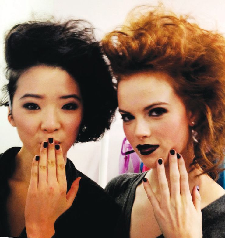<p>Deep royal purple reigned at the Yuna Yang show, which used <strong>Priti NYC Polish</strong> in King Spider Orchid to match the smoky eyes and glossy lips.</p>