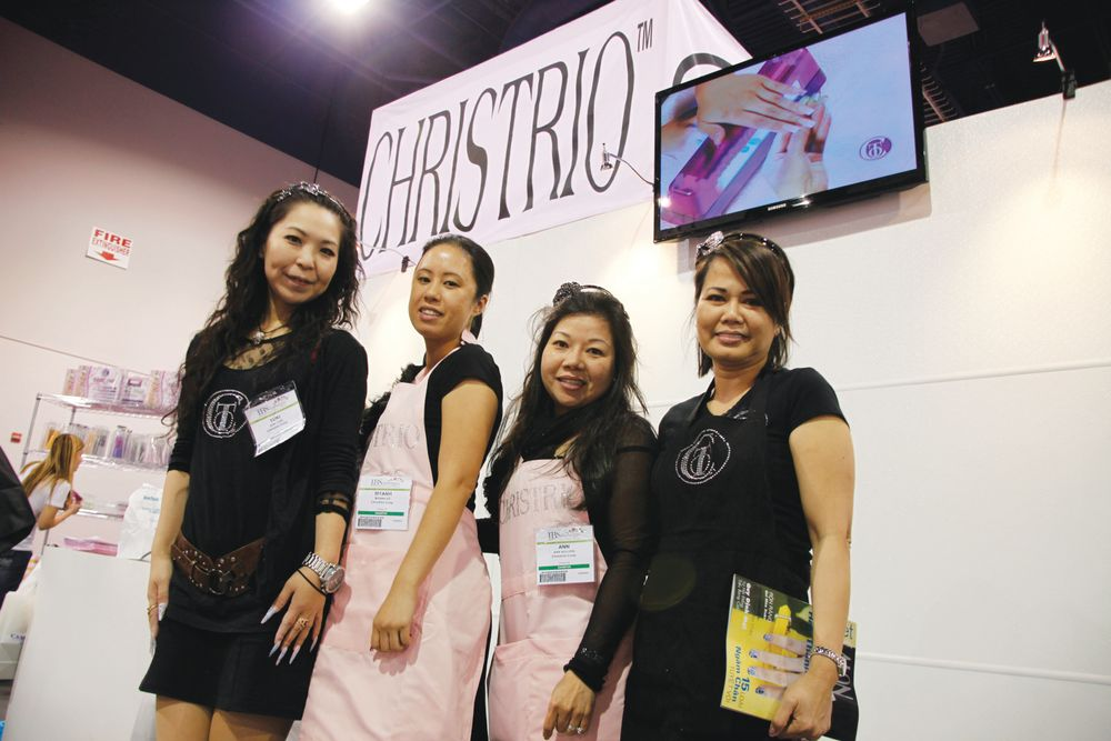 <p>Christrio educators Yuki Fukuda, My Anh Vo, Ann Nguyen, and owner Christine Le had a great time greeting show attendees.</p>