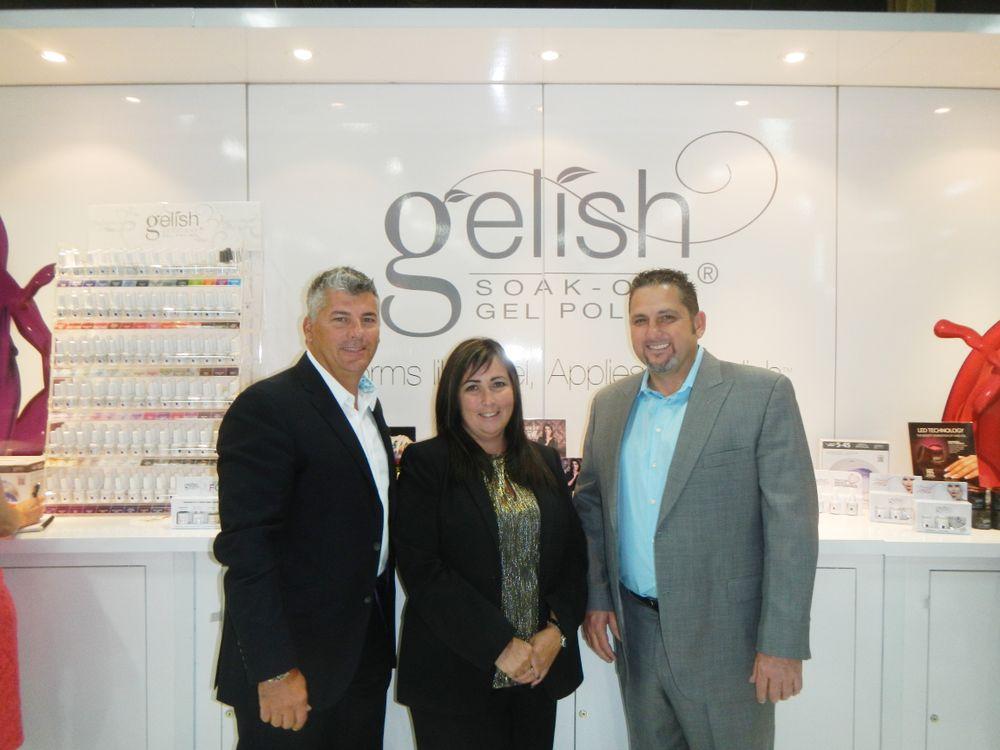 <p>Hand &amp; Nail Harmony CEO Danny Haile, vice president Gari-Dawn Tingler, and executive VP David Daniel</p>