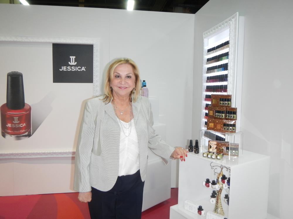 <p>Jessica Vartoughian introduced new polish collections at Cosmoprof.</p>