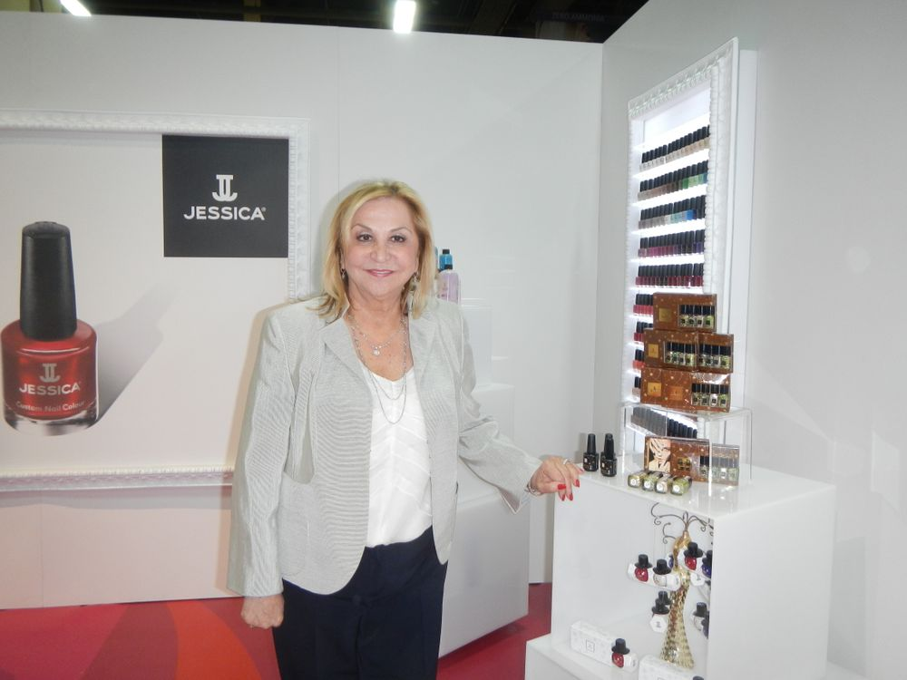 <p>Jessica Vartoughian introduced new polish collections at Cosmoprof.</p>