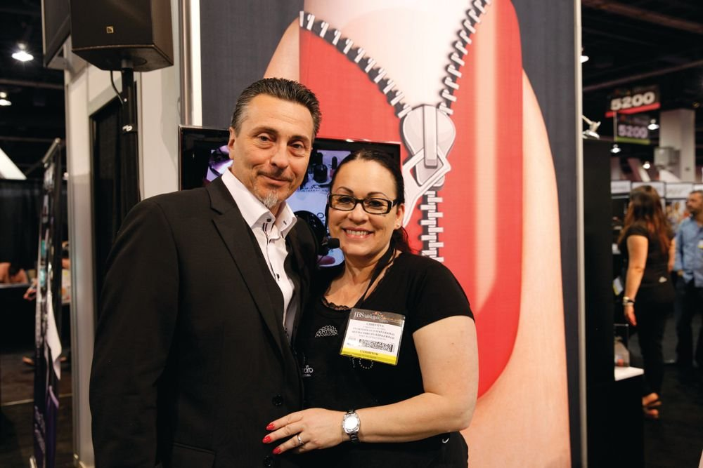 <p>Alessandro&rsquo;s Christina Rivera demoed products while her husband helped attendees better understand the company&rsquo;s brand, which is new to the U.S. market.</p>
