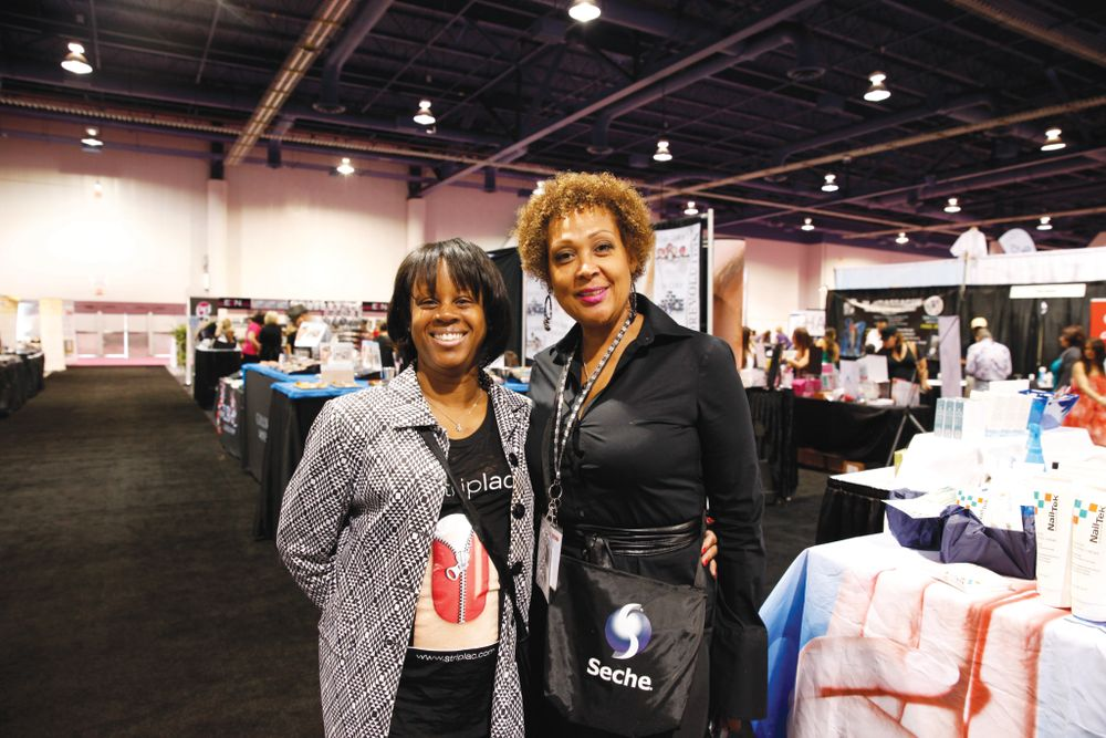 <p>Alessandro&rsquo;s LaShaun Brown-Glenn found time to catch up with Seche&rsquo;s Lynn Long on the show floor.</p>